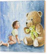 My Teddy And Me 03 Wood Print