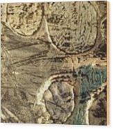 My Textured Stones E Wood Print