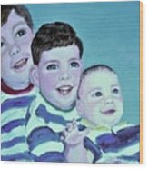 My Three Sons Wood Print