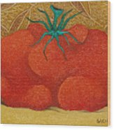 My Tomato  2008 Wood Print