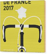My Tour De France Minimal Poster 2017 Wood Print