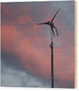 My Wind Turbine Wood Print