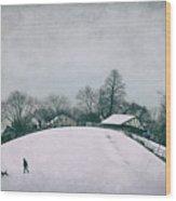 My Wintry Homey Snowy Planet Wood Print