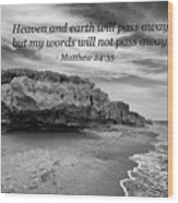My Words Will Not Pass Away Wood Print