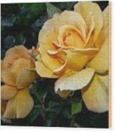 My Yellow Rose Wood Print