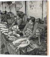 Myanmar Market Wood Print