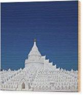 Myanmar. Mingun. The Hsinbyume Pagoda. Wood Print
