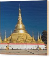 Myanmar Temple Wood Print