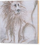 Mya's Lion Wood Print