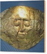 Mycenaean Gold Mask Wood Print