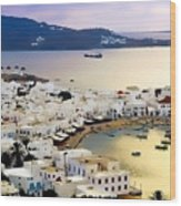 Mykonos Greece Wood Print