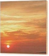 Mykonos Sunset Wood Print