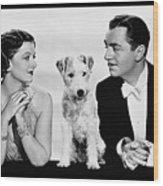 Myrna Loy Asta William Powell Publicity Photo The Thin Man 1936 Wood Print