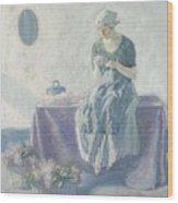 Myron G. Barlow 1873 - 1937 Peasant Sewing Wood Print