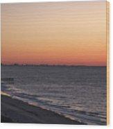 Myrtle Beach Pier Wood Print