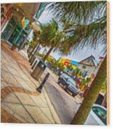 Myrtle Beach Shopping Wood Print