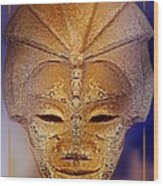 Mysterious Ancient  Asian Mask Wood Print