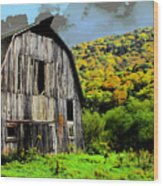 Mysterious Barn Wood Print by Barry Shaffer