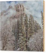 Mysterious El Capitan Wood Print