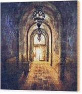 Mysterious Hallway Wood Print