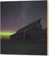 Mysterious Lights Wood Print