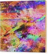 Mysterious Sunset Debris Wood Print