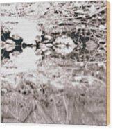 Mysterious Waterline Wood Print
