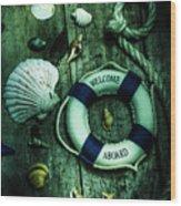 Mystery Aboard The Sunken Cruise Line Wood Print