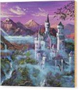 Mystery Castle Wood Print by David Lloyd Glover