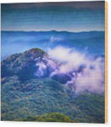 Mystery Of Looking Glass Rock Wood Print