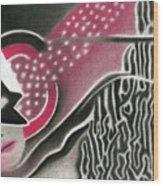 Mystery Woman Wood Print
