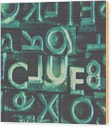 Mystery Writer Clue Wood Print