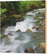 Mystic Creek Wood Print