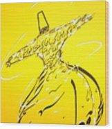 Mystic Dancer In Yellow Wood Print by Faraz Khan