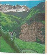 Mystic Falls On Lake Fork San Miguel River Wood Print