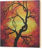 Mystic Firestorm Wood Print