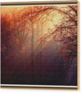 Mystic Forest At Dawn L B With Alternative Decorative Ornate Printed Frame Wood Print