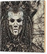 Mystic Future And Past - Ion Prophecies - Monotone  Wood Print