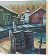 Mystic Harbor Wood Print