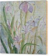 Mystic Iris Wood Print