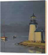 Mystic Lighthouse Wood Print