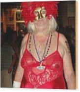 Mystic Masquerade For Linda Daughter Of Munger Wood Print
