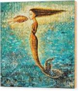 Mystic Mermaid Iv Wood Print