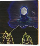 Mystic Moon Wood Print
