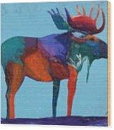 Mystic Moose Wood Print