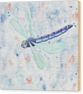 Mystic Night Dragonfly Wood Print