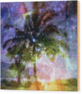 Mystic Palm Wood Print