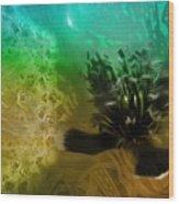 Mystic Poppy Yellow Green  Wood Print