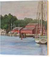 Mystic River Argia Wood Print