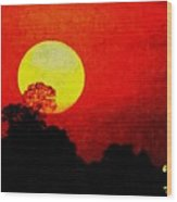 Mystic Sunset H A Wood Print